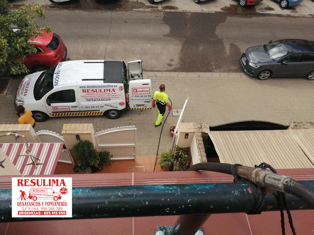 desatascos bajantes con camión cuba Sevilla